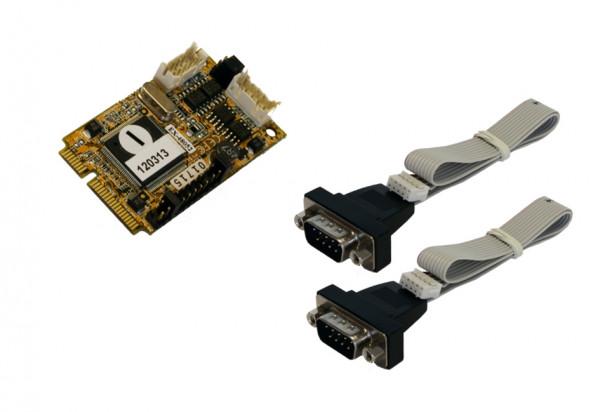 Mini PCIe 2S Seriell RS422/485 Karte (MosChip Chip-Set)