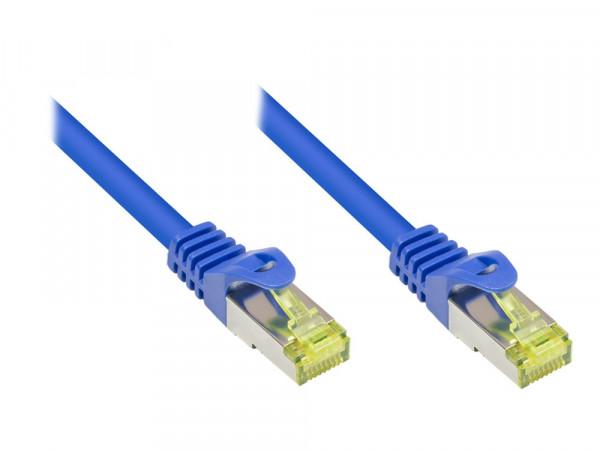 Patchkabel, Cat. 7 S/FTP PiMF, blau, 0,25m