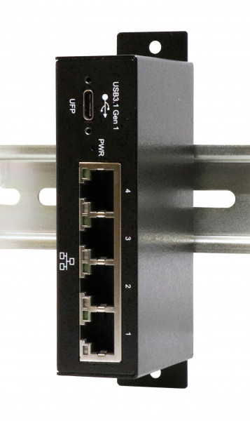 USB 3.0 zu 4 x Ethernet 1G, Metall (C-Stecker)