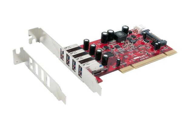 4 Port USB 3.0 PCI Karte