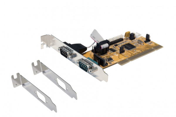 2S PCI Seriell-Karte, 2 x 9 Pin Port (SystemBase)