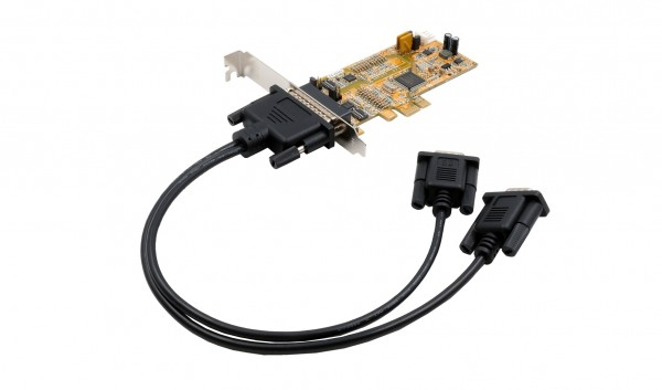 PCIe 2S Seriell RS-232/422/485, LP, (MOSCHIP)