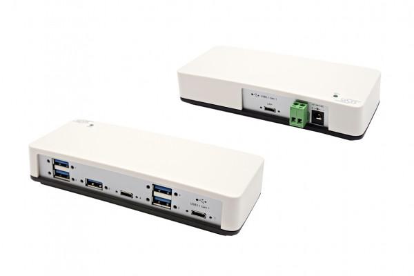 7 Port USB 3.0 Plastik HUB, 2 x C-Down