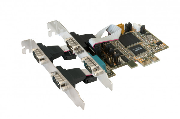 PCIe 4S Seriell RS-232, SystemBase