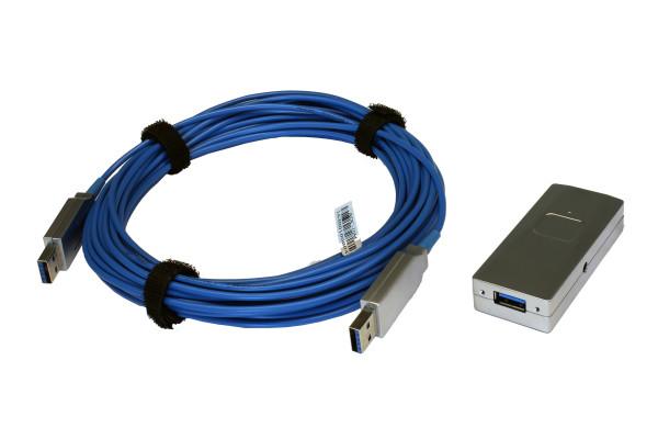 USB 3.2 Gen1 AOC Fiber Kabel, 100m