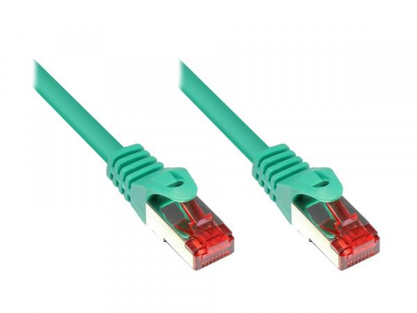 Patchkabel, Cat. 6, S/FTP, PiMF, PVC, 1m, grün
